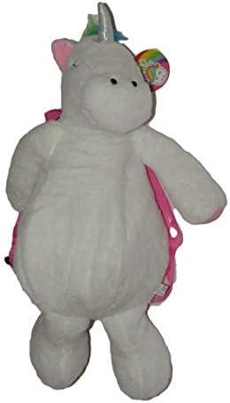 [해외]White Unicorn Plush Backpack 20 Bright Hair Small Pocket / White Unicorn Plush Backpack 20 Bright Hair Small Pocket