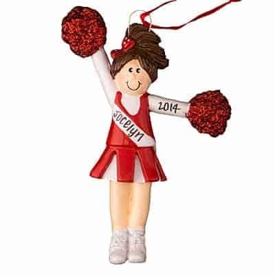 Cheerleader Red Uniform - Brown Hair Personalized -