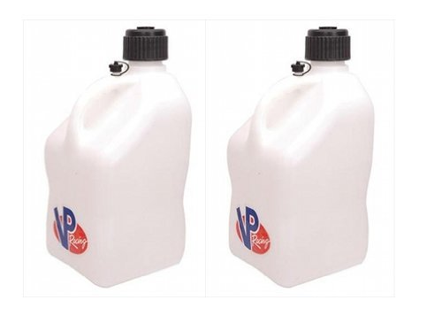 2 Pack VP 5 Gallon Square White Racing Utility Jugs