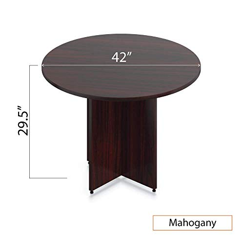 GOF 42'' Round Table (42W x 42D x 29.5H), Cherry, Espresso, Mahogany, Walnut (Mahogany) by GOF (Image #4)