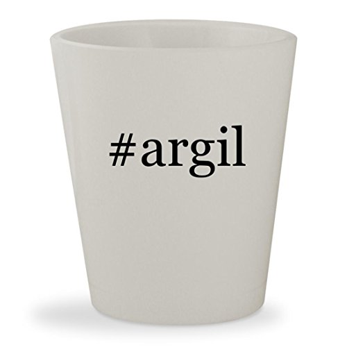 #argil - White Hashtag Ceramic 1.5oz Shot Glass Vert Green Ceramic