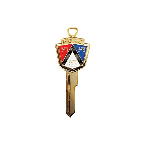 MACs Auto Parts 66-31552 - Thunderbird Anniversary Key Blank, Gold With Red White And Blue Crest