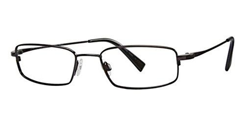 Flexon Flx 881Mag-Set Eyeglasses 001 Black Chrome Demo 52 18 140 ()