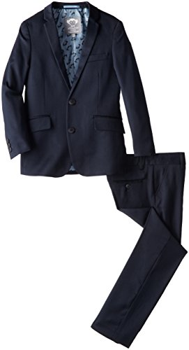 Appaman Big Boys' Two Piece Classic Mod Suit In Navy, Navy Blue, 12 -