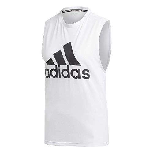adidas Women's Badge of Sport Tank Top, White/Black, Small