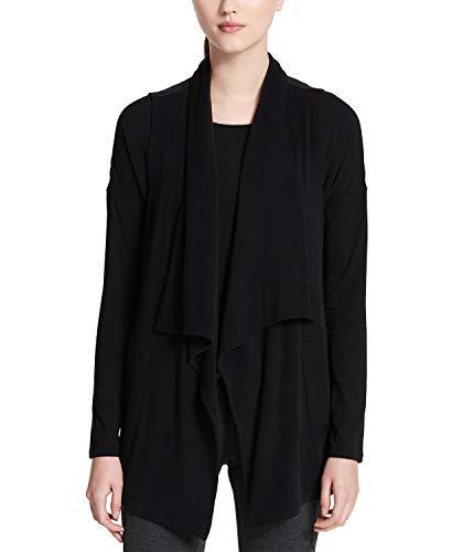 Calvin Klein Women's Performance Draped Vest Black Small Calvin Klein Cotton Cardigan
