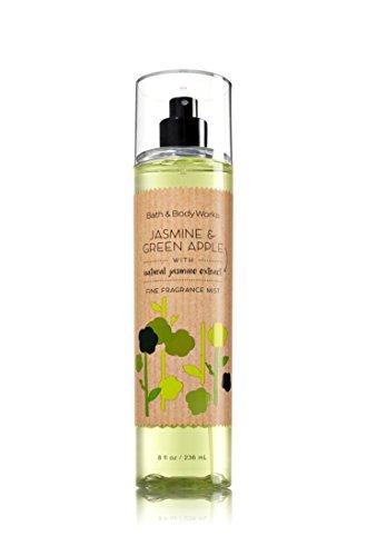 Bath and Body Works Jasmine Green Apple Fine Fragrance Mist 8 Ounce Full Size (Apple Jasmine Perfume Green)