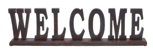 """Deco 79 93812 """"Welcome"""" Wood Table Top, 29″ x 8″ Review"""