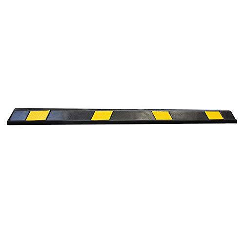 RK-BP72 Heavy Duty Rubber Parking Curb, Parking Block, 72 -inch for Car, Truck, RV and Trailer Stop Aid with 4-Piece Anchor Kit by RK (Image #1)