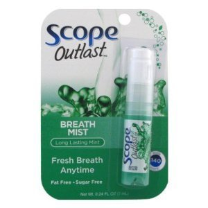 Scope Long Lasting Mint Breath Mist, 0.24oz, Pack of 6