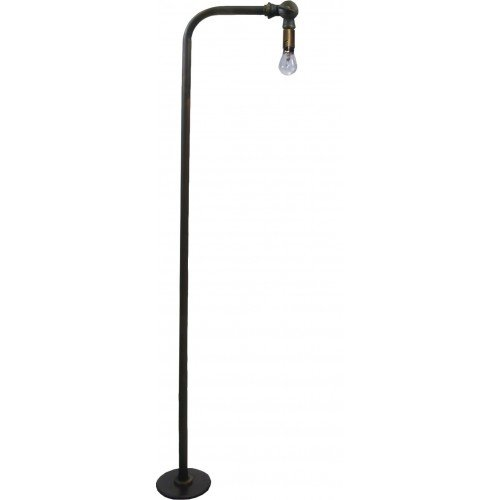 B28S-AB 90 Deg Brass Path Light Stem W/ 18W Lamp, Spike, Conn -Ab ()