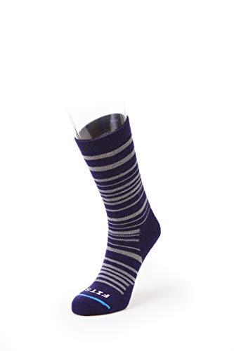 FITS Medium Hiker - Crew: Essential Hiking Socks, Eggplant/Titanium, XL