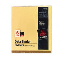 AVE11730 - Avery Gold Line Data Binder Insertable Tab Index (Indexes Line Insertable)