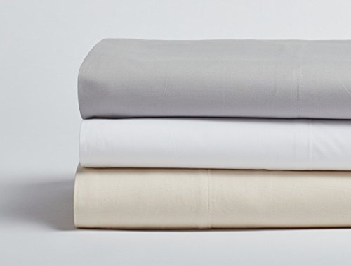 Coyuchi 300 TC Organic Percale Sheet Set, Queen, Undyed (Organic Sheet Percale Coyuchi)