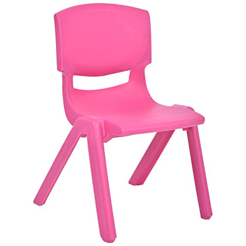 JOON Stackable Plastic Kids Learning Chairs, 20.5x12.75x11 Inches, The Perfect Chair for Playrooms, Schools, Daycares and Home (Rose)