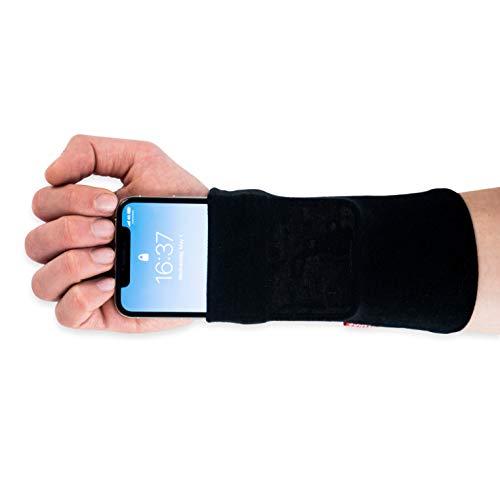Runamics | Smartphonetasche für den Unterarm | Joggen, Laufen, Fitness, Sport | aus Bambus-Viskose und Baumwolle | Smartphone Armband, Handy Armtasche, Joggingtasche, Sportarmband, Handgelenktasche (M