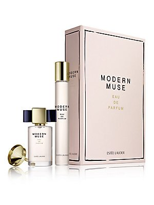 Estee Lauder Modern Muse 2-Piece Coffret Travel Gift Set: Modern Muse Eau de Parfum 0.5 oz + Muse Eau de Parfum Miniature 0.24 oz (Limited Edition)