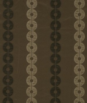 Robert Allen/Beacon Hill Azimuth Circle in Espresso Fabric By The (Beacon Hill Linen)