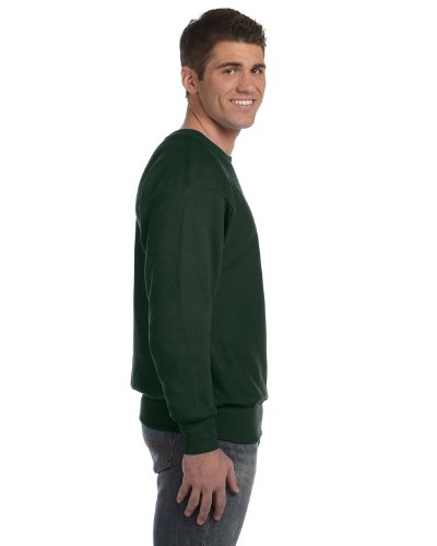 Champion Adult Comfort Rib Knit Crewneck Sweatshirt, Dark Green, - Band Sweatshirt Crewneck