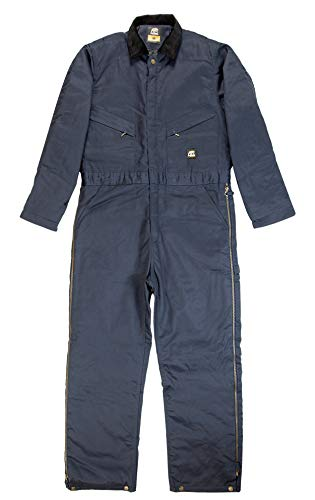 Berne I414 Men's Deluxe Insulated Coverall - Twill, Navy - L - S ()