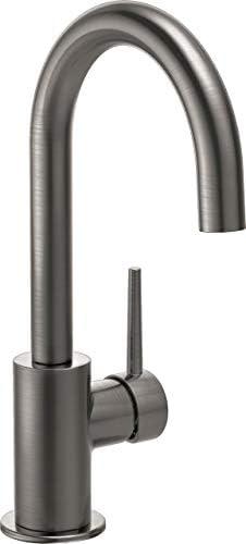 Delta Faucet 1959LF-KS Contemporary Faucet Bar, Black Stainless