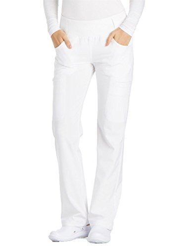 Cherokee iFlex CK002 Mid Rise Pull-On Pant White M Petite