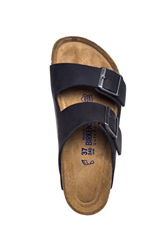 Birkenstock Unisex Arizona Black Oiled Leather Sandals - 7-7.5 B(M) US Women