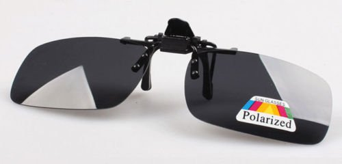 XENO-1X Polarized Clip On Flip Up Sunglasses Mirrored Clip for Myopia Glasses - Gradient Clip On Sunshade