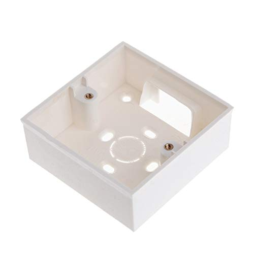 Ash Wall Mount Receptacle - Let's dream switchs with 86X86 PVC Junction Box Wall Mount Cassette For Switch Socket Base