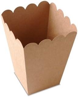 Selfpackaging Caja de Palomitas para Fiestas en Color Kraft con ...