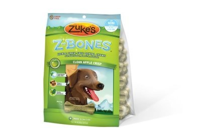 - ZUKES Z-BONES CLEAN APPLE CRISP MINI DENTAL CHEW 18 PACK