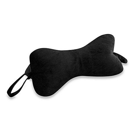 Original Bones™ NeckBone Pillow in Velour Black