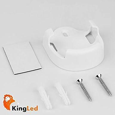 2393 KingLed Mi-Light Supporto da Parete per Telecomandi Milight Sostegno per Controller con Viti e Biadesivo per il Montaggio Serie Mi Light FUT099 cod