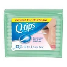Q-Tips Cotton Swabs-30 ct., Travel Size Purse Pack