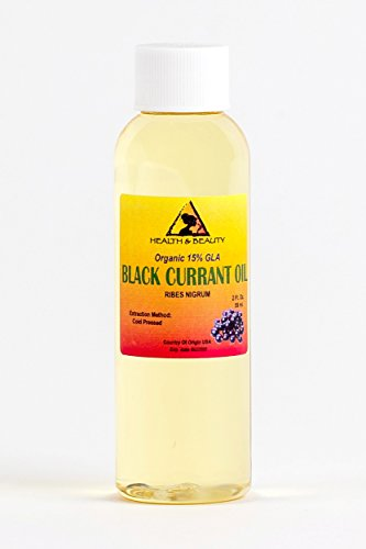 Black Currant Seed Oil Organic 15% GLA Cold Pressed Premium Fresh 100% Pure 2 oz