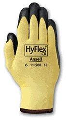Ansell Hyflex Cr Glove - Ansell CR HyFlex Cut Resistant Gloves Stretch Kevlar Nitrile Coating
