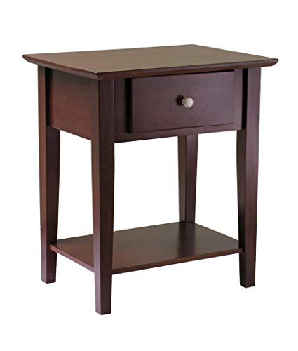 Wood & Style Premium Décor Shaker Night Stand with -