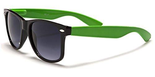 nouvelle qualité Hommes Femmes Classique Nuances couleur rouge jaune orange vert violet bleu blanc rétro Gradient sunglassess COMPLET UV400 Protection GRATUIT vibrant Hut pochette Vert