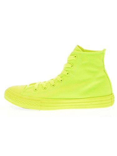 CONVERSE niño / o altas zapatillas de deporte 656851C CTAS HI FLUO ROJO amarillo