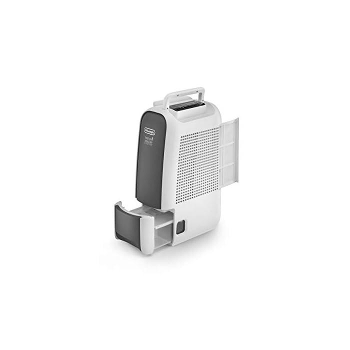 31hr8w7JmyL CAPACIDAD DESHUMIDIFICACIÓN: puede extraer hasta 6 L diarios, incluso a una temperaturacon de 32º y un 80 % de humedad PANTALLA LCD: en la parte superior posee un panel de control iluminado con botones sencillos fáciles de manejar SILENCIOSO: este deshumidificador es silencioso y, por ello, es óptimo para cualquier habitación de la casa, incluso puedes usarlo mientras duermes