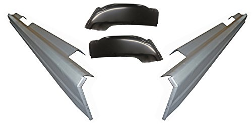 Motor City Sheet Metal - Works With 1999-07 CHEVY SILVERADO SIERRA 4DR CREW CAB ROCKER PANELS AND CAB CORNERS KIT