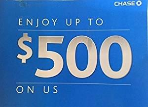 Chase  500 Bonus Coupon  300 Checking  200 Saving Exp  01 11 2018