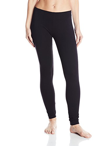 No Nonsense Women's Cotton Legging, Black, Large
