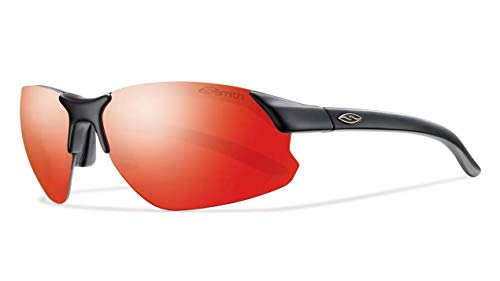 Smith Optics Parallel D Max Sunglasses, Matte Black Frame, Red Sol-X Carbonic TLT Lenses (Smith Sunglasses Slider)