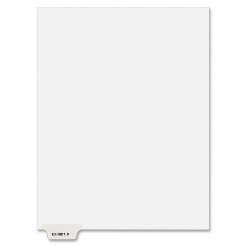 Avery Individual Legal Dividers, Bottom Tab, Exhibit F, 1 Set of 25 (11945) free shipping 70N2ofjt