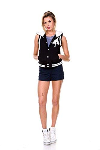 Stanzino® Women's Sleeveless Hooded Varsity Vests