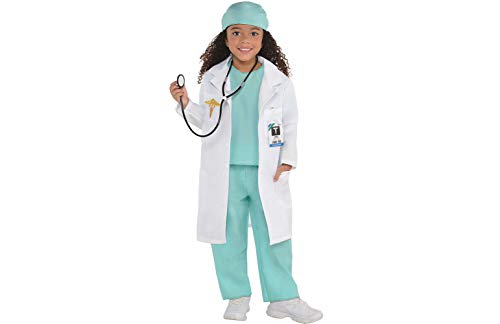 AMSCAN Doctor Halloween Costume for Toddler Girls, Medium, with Included Accessories -