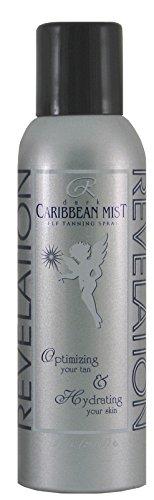 Revelation Caribbean Mist Organic and Natural Sunless Self Tanning Spray, UV Free Instant Tan for Long Lasting Sun-Kissed Glow, Face and Body, Dark-Medium Skin tones, 7 -
