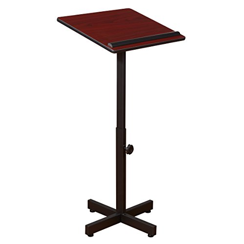 Adjustable Speaker Podium Lectern - Oklahoma Sound 70-MY Portable Presentation Lectern, 20