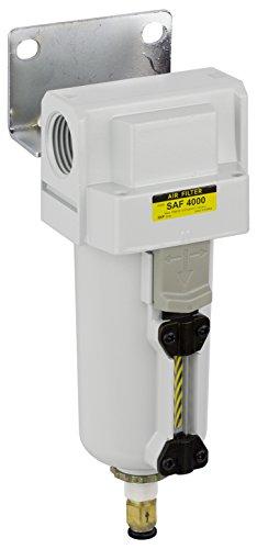 PneumaticPlus SAF4000M-N06BD-MEP Compressed Air Particulate Filter, 3/4'' NPT, Auto Drain, Metal Bowl, 10 m by PneumaticPlus